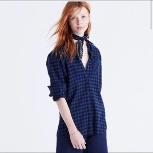 ✨ Madewell Slim Fit Flannel Button Down